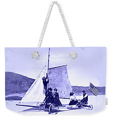Vintage Ladies And Gentlemen Sail On The Desert Queen Weekender Tote Bag