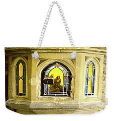 Nativity In Ancient Stone Wall Weekender Tote Bag by Linda Prewer