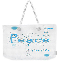 Blue Peace Weekender Tote Bag by Linda Prewer