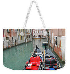 Gondola Love Weekender Tote Bag by Linda Prewer