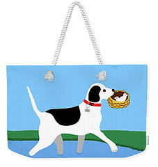 Cartoon Hero Hound Rescues Two Baby Birds Weekender Tote Bag