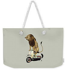 Weekender Tote Bag featuring the drawing Lamb Colour by Rob Snow