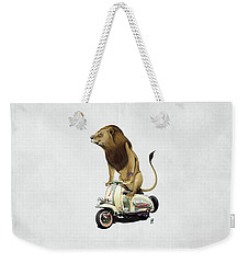 Weekender Tote Bag featuring the drawing Lamb Wordless by Rob Snow