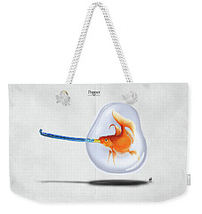 Weekender Tote Bag featuring the drawing Popper by Rob Snow