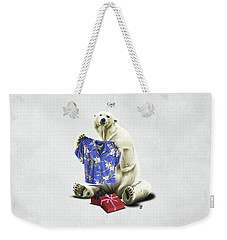 Weekender Tote Bag featuring the drawing Cool by Rob Snow