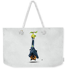 Weekender Tote Bag featuring the drawing Peared Wordless by Rob Snow