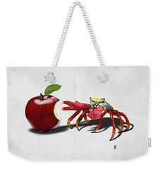 Weekender Tote Bag featuring the drawing Core Wordless by Rob Snow