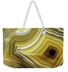Earth Treasures - Yellow Agate Weekender Tote Bag by Jaroslaw Blaminsky