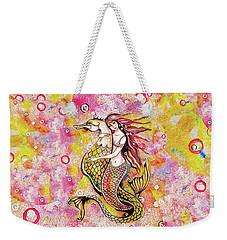 Black Sea Mermaid Weekender Tote Bag by Eva Campbell