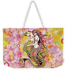 Black Sea Mermaid Weekender Tote Bag