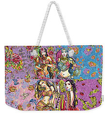 Weekender Tote Bag featuring the painting Eastern Flower by Eva Campbell