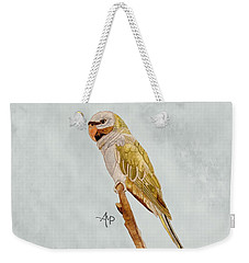 Derbyan Parakeet Weekender Tote Bag by Angeles M Pomata