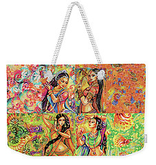 Weekender Tote Bag featuring the painting Magic Of Dance by Eva Campbell