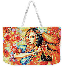 Weekender Tote Bag featuring the painting Sun Ray Dance by Eva Campbell
