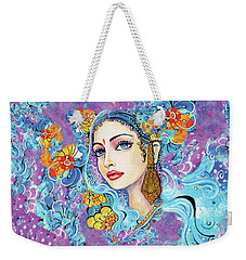 Weekender Tote Bag featuring the painting The Veil Of Aish by Eva Campbell