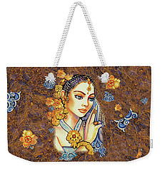 Weekender Tote Bag featuring the painting Amari by Eva Campbell
