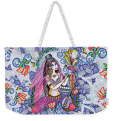Weekender Tote Bag featuring the painting Scheherazade's Bird by Eva Campbell