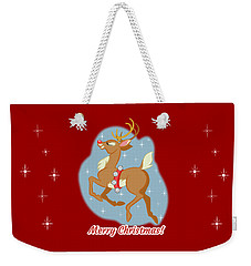 Charming Retro Reindeer Weekender Tote Bag