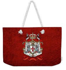 Knights Templar - Coat Of Arms Over Red Velvet Weekender Tote Bag
