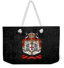 Knights Templar - Coat Of Arms Over Black Velvet Weekender Tote Bag