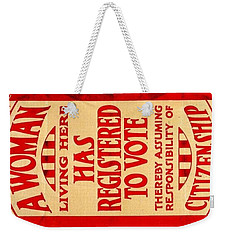 Weekender Tote Bag featuring the digital art Equality by ReInVintaged