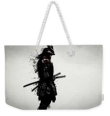 Weekender Tote Bag featuring the mixed media Armored Samurai by Nicklas Gustafsson