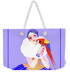 Vintage Dancer With Parrot Weekender Tote Bag