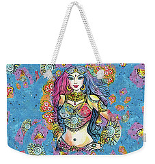 Weekender Tote Bag featuring the painting Kali by Eva Campbell