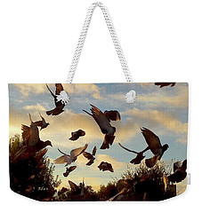 Birds And Fun At Butler Park Austin - Birds 1 Weekender Tote Bag