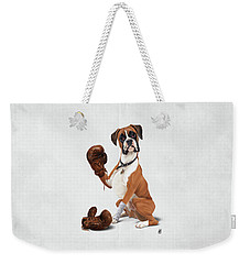The Boxer Wordless Weekender Tote Bag