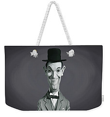 Weekender Tote Bag featuring the digital art Celebrity Sunday - Stan Laurel by Rob Snow