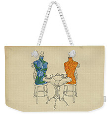 Weekender Tote Bag featuring the painting High Tea by Meg Shearer