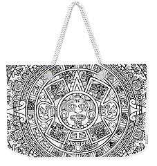 Weekender Tote Bag featuring the photograph  Aztec Sun by Taylan Apukovska