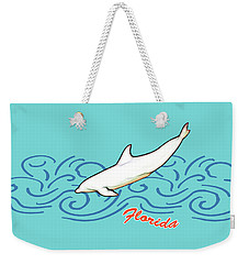 Weekender Tote Bag featuring the digital art Florida Dolphin Print by Methune Hively
