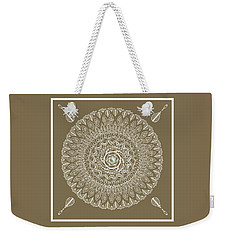 Ecru Mandala Weekender Tote Bag by Deborah Smith