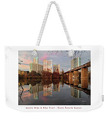Austin Hike And Bike Trail - Train Trestle 1 Sunset Left Greeting Card Poster - Over Lady Bird Lake Weekender Tote Bag
