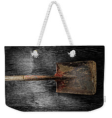 Weekender Tote Bag featuring the photograph Tools On Wood 4 On Bw by YoPedro