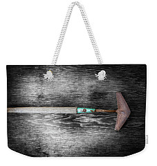 Weekender Tote Bag featuring the photograph Tools On Wood 5 On Bw by YoPedro