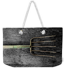 Weekender Tote Bag featuring the photograph Tools On Wood 7 On Bw by YoPedro