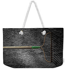 Weekender Tote Bag featuring the photograph Tools On Wood 8 On Bw by YoPedro