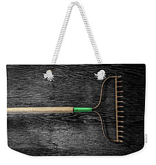 Weekender Tote Bag featuring the photograph Tools On Wood 9 On Bw by YoPedro