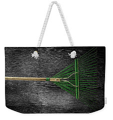 Weekender Tote Bag featuring the photograph Tools On Wood 10 On Bw by YoPedro