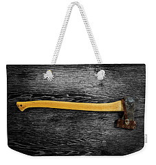 Weekender Tote Bag featuring the photograph Tools On Wood 11 On Bw by YoPedro