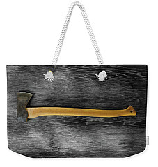 Weekender Tote Bag featuring the photograph Tools On Wood 12 On Bw by YoPedro