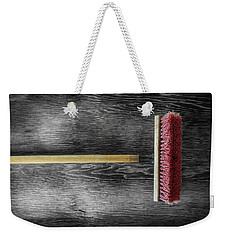 Weekender Tote Bag featuring the photograph Tools On Wood 14 On Bw by YoPedro
