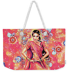Weekender Tote Bag featuring the painting Devika Dance by Eva Campbell