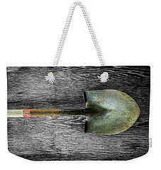 Weekender Tote Bag featuring the photograph Tools On Wood 15 On Bw by YoPedro