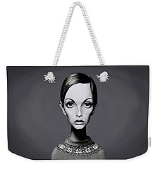 Celebrity Sunday - Twiggy Weekender Tote Bag by Rob Snow