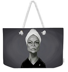 Celebrity Sunday - Eartha Kitt Weekender Tote Bag by Rob Snow