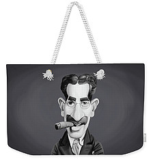 Celebrity Sunday - Groucho Marx Weekender Tote Bag by Rob Snow